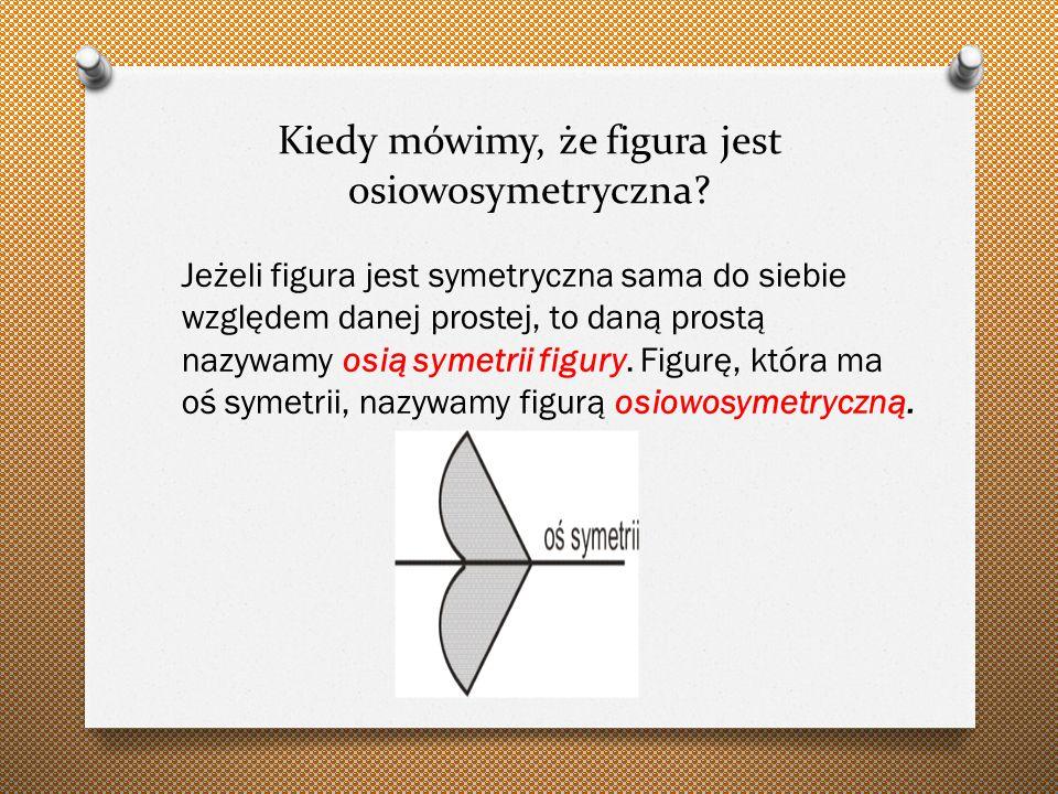 Kiedy mówimy, że figura jest osiowosymetryczna.