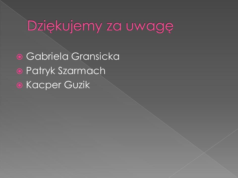  Gabriela Gransicka  Patryk Szarmach  Kacper Guzik