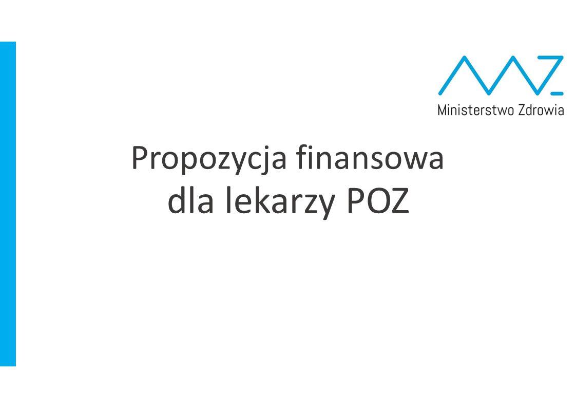 Propozycja finansowa dla lekarzy POZ