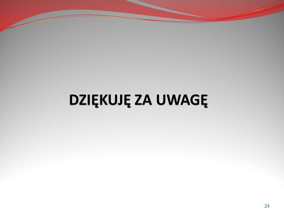 DZIĘKUJĘ ZA UWAGĘ DZIĘKUJĘ ZA UWAGĘ 24