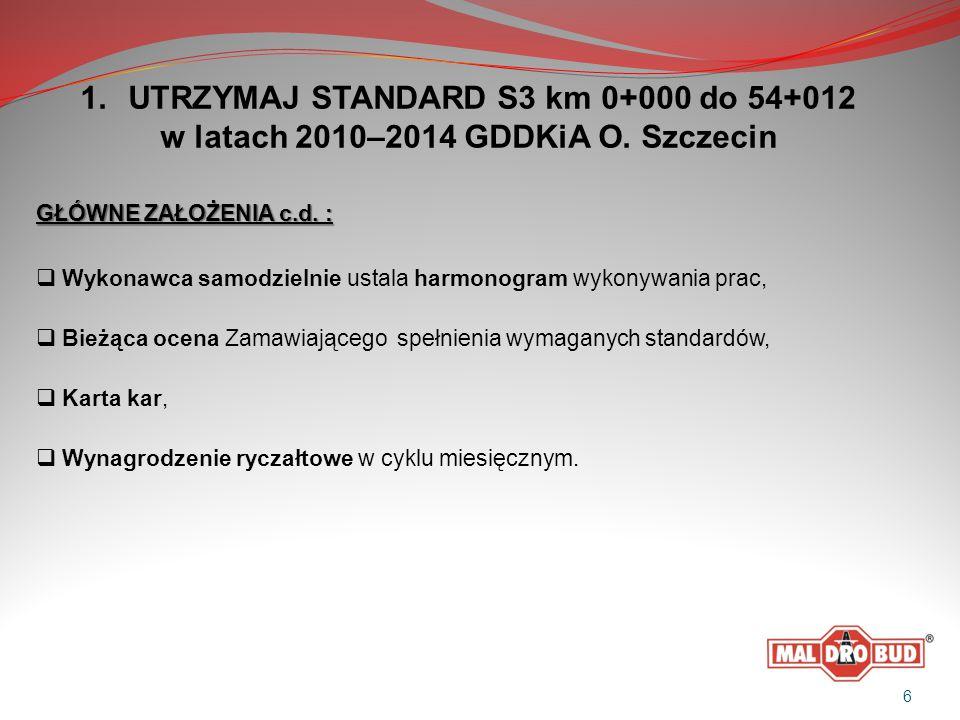 1.UTRZYMAJ STANDARD S3 km 0+000 do 54+012 w latach 2010–2014 GDDKiA O.
