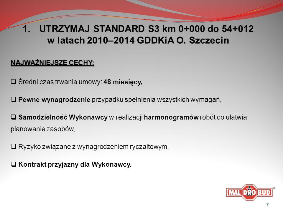 1. UTRZYMAJ STANDARD S3 km 0+000 do 54+012 w latach 2010–2014 GDDKiA O.