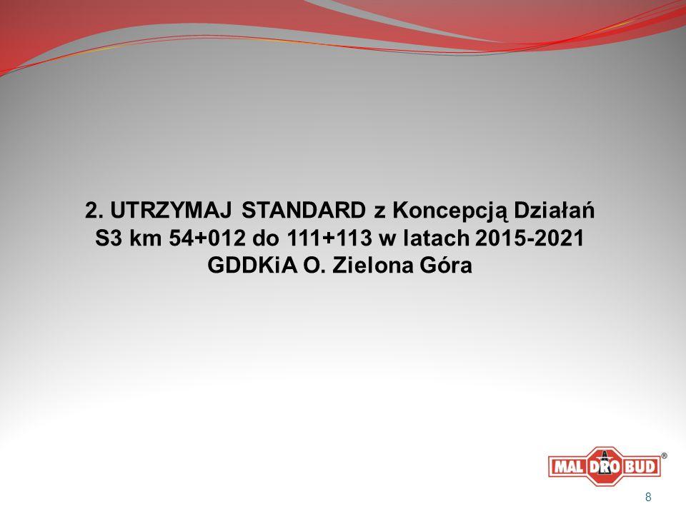 2. UTRZYMAJ STANDARD z Koncepcją Działań S3 km 54+012 do 111+113 w latach 2015-2021 GDDKiA O. Zielona Góra 8