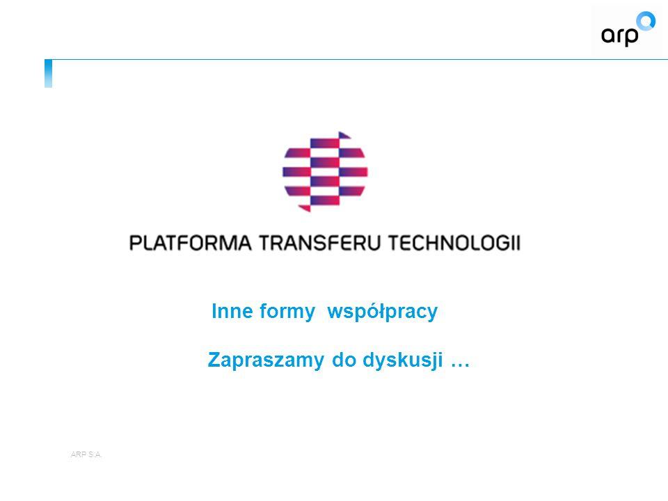 21 Departament Projektów Własnych ARP www.arp.pl www.ptt.arp.pl Agencja Rozwoju Przemysłu S.A.