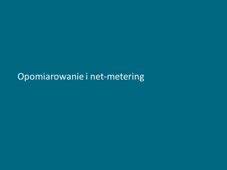 Opomiarowanie i net-metering