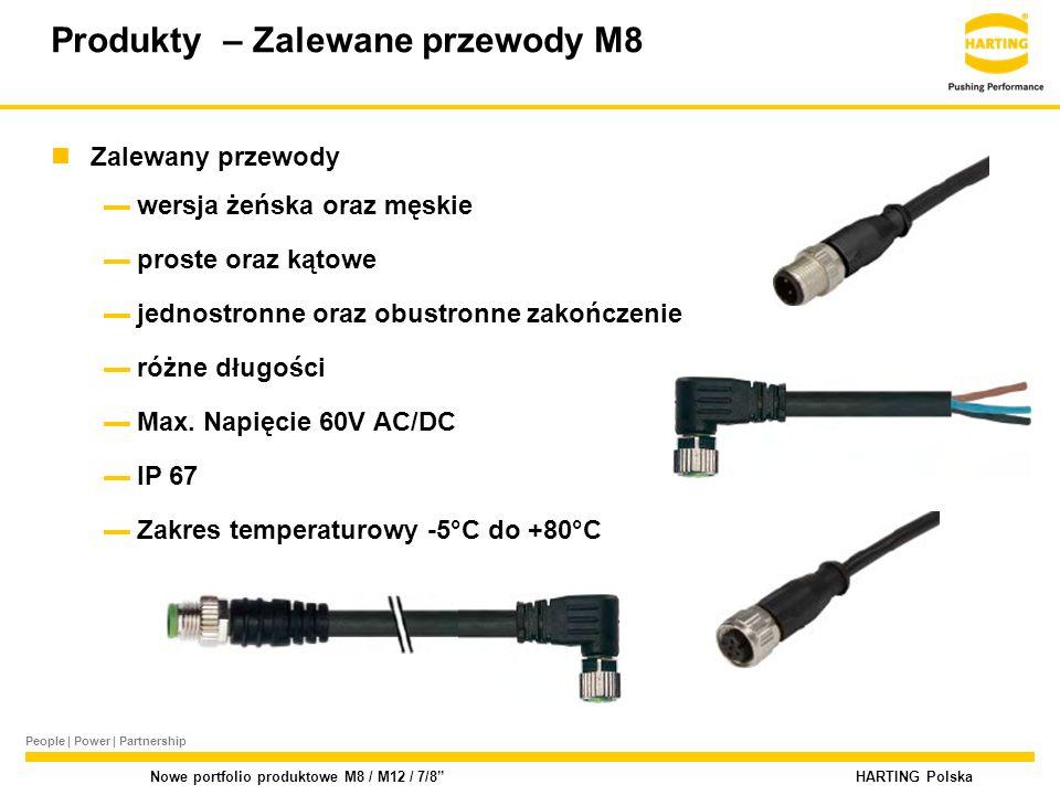 People | Power | Partnership HARTING Polska Nowe portfolio produktowe M8 / M12 / 7/8 Złącza okrągłe M12 – x- kodowane coded Ilość kontaktów zgodnie z normą: IEC 61076-2-109: 8 Aplikacje: High-Speed Ethernet do 10G np.