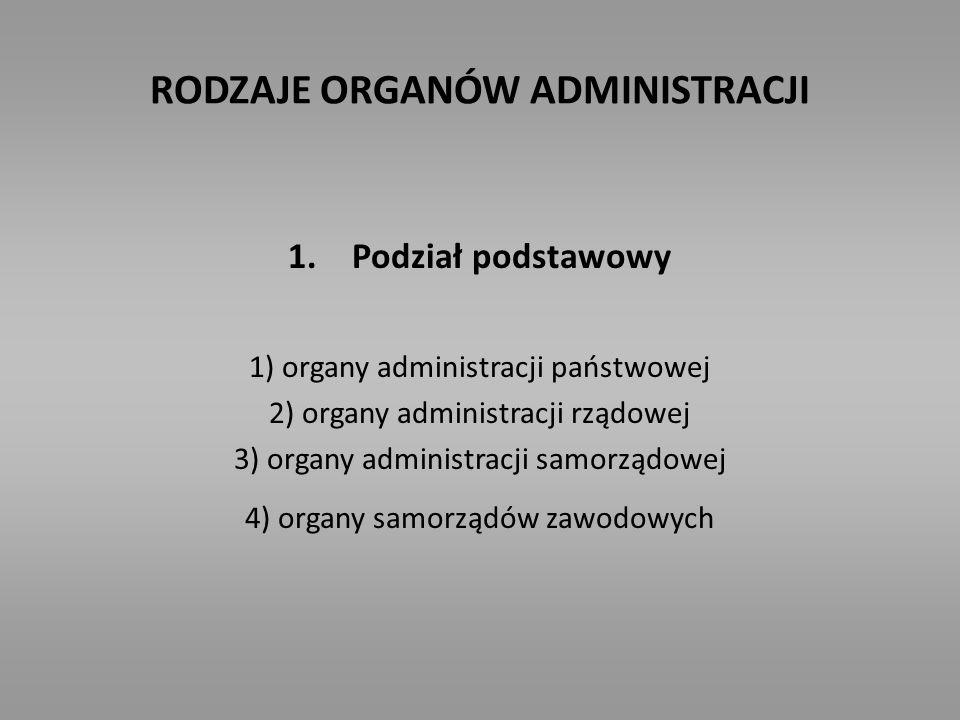 RODZAJE ORGANÓW ADMINISTRACJI 2.