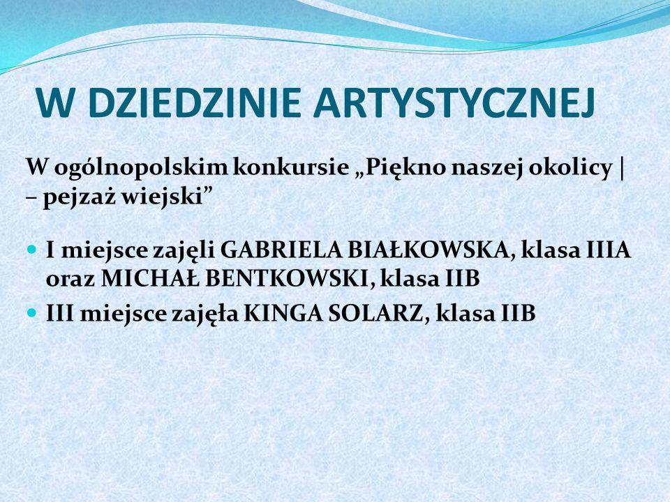 W gminnym konkursie recytatorskim I miejsce zajęła NATALIA FRYC, klasa IIC II miejsce zajęła MONIKA JAROSZ, klasa IIC W gminnej corridzie ortograficzn