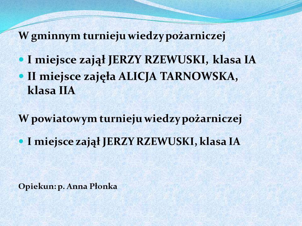 """W powiatowym konkursie plastycznym """"Bezpieczeństwo i odwaga tego od Ciebie wymaga"""" II miejsce zajął MICHAŁ BENTKOWSKI, klasa IIB III miejsce zajęła KA"""