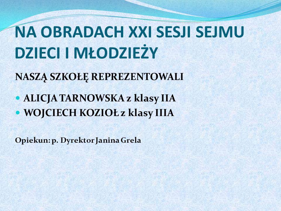 W tenisie stołowym dziewcząt na szczeblu powiatu III miejsce zajęły WIKTORIA ORZECHOWSKA i GABRIELA KASPRZYK z klasy IIC Opiekunowie: p. Janusz Kleśta