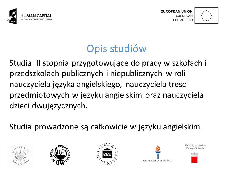PROGRAM STUDIÓW Project Bilingual education.