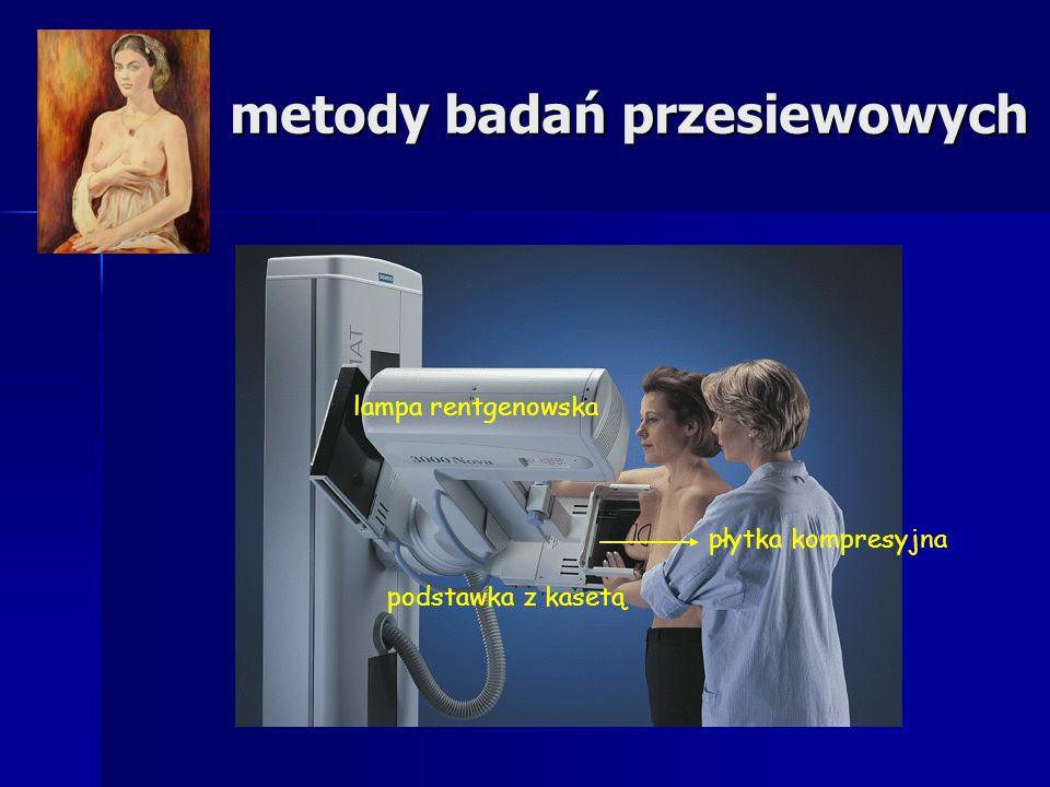 metody badań przesiewowych lampa rentgenowska podstawka z kasetą płytka kompresyjna