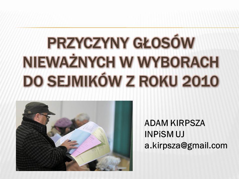 ADAM KIRPSZA INPiSM UJ a.kirpsza@gmail.com