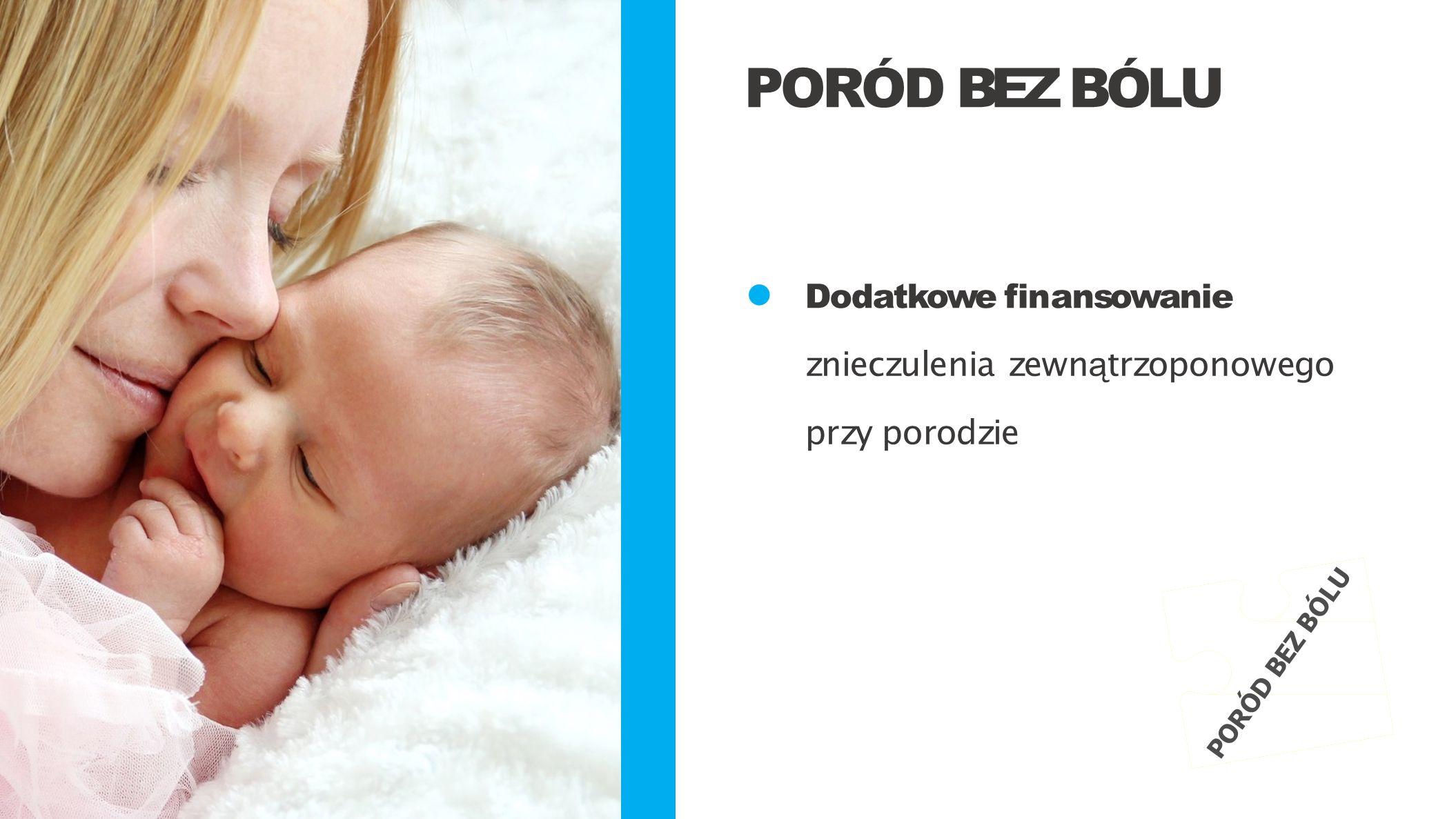 Dodatkowe finansowanie znieczulenia zewn ą trzoponowego przy porodzie PORÓD BEZ BÓLU