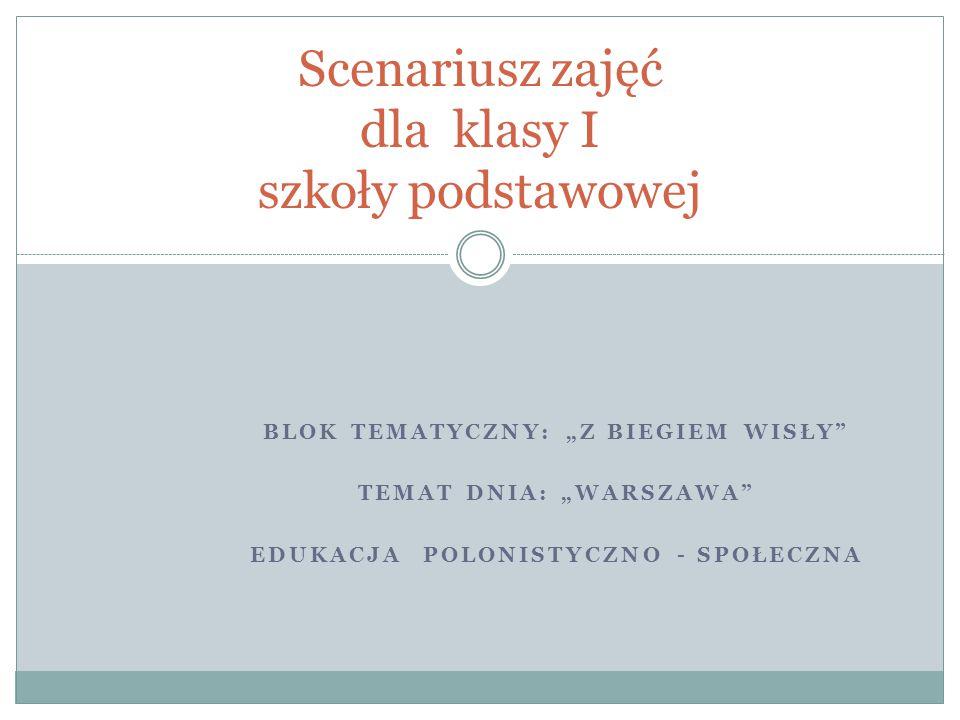Karta pracy Uczniowie uzupełniają samogłoskami nazwy miejsc i budynków znajdujących się w Warszawie i przepisują wyrażenia do zeszytu zwracając uwagę na wielką literę obu członów nazw własnych.