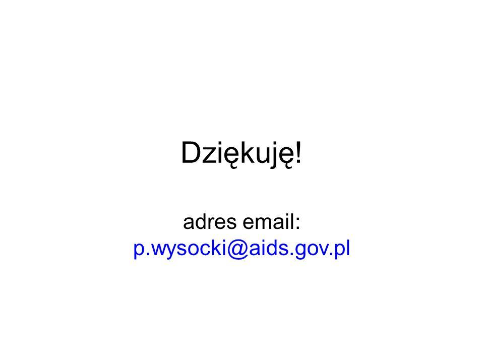 Dziękuję! adres email: p.wysocki@aids.gov.pl