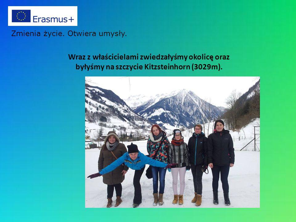 Wraz z właścicielami zwiedzałyśmy okolicę oraz byłyśmy na szczycie Kitzsteinhorn (3029m). Zmienia życie. Otwiera umysły.