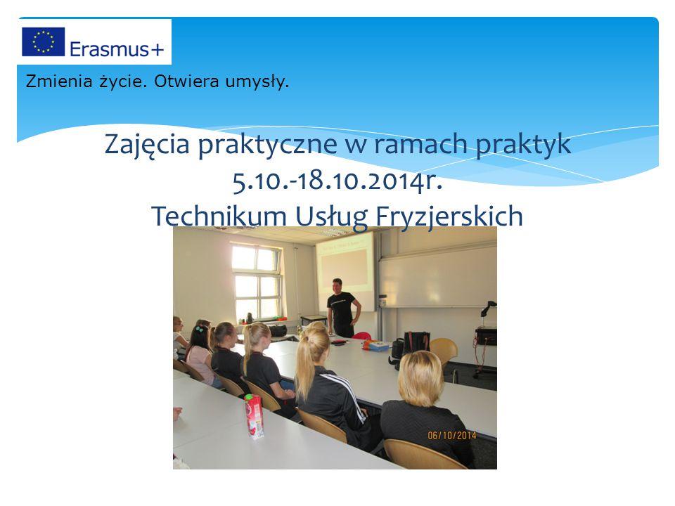 Zajęcia praktyczne w ramach praktyk 5.10.-18.10.2014r.