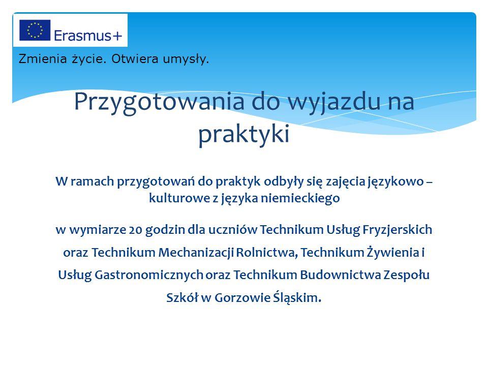 W ramach przygotowań do praktyk odbyły się zajęcia językowo – kulturowe z języka niemieckiego w wymiarze 20 godzin dla uczniów Technikum Usług Fryzjer