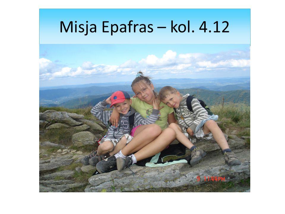 Misja Epafras – kol. 4.12