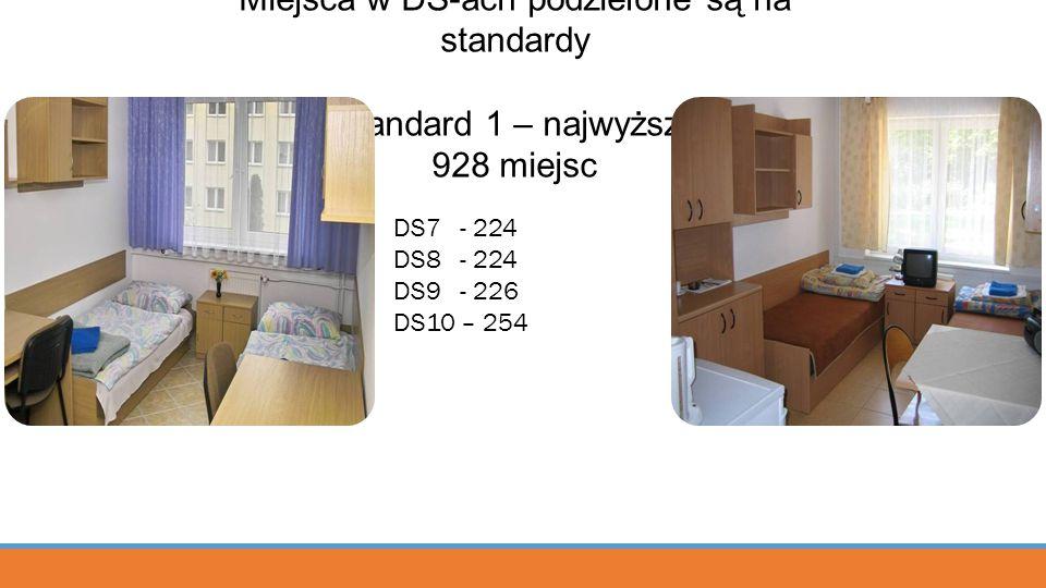 Miejsca w DS-ach podzielone są na standardy Standard 1 – najwyższy 928 miejsc DS7 - 224 DS8 - 224 DS9 - 226 DS10 – 254