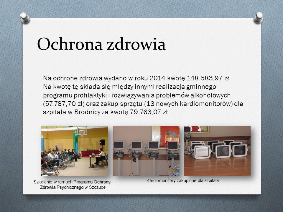 Ochrona zdrowia Na ochronę zdrowia wydano w roku 2014 kwotę 148.583,97 zł.