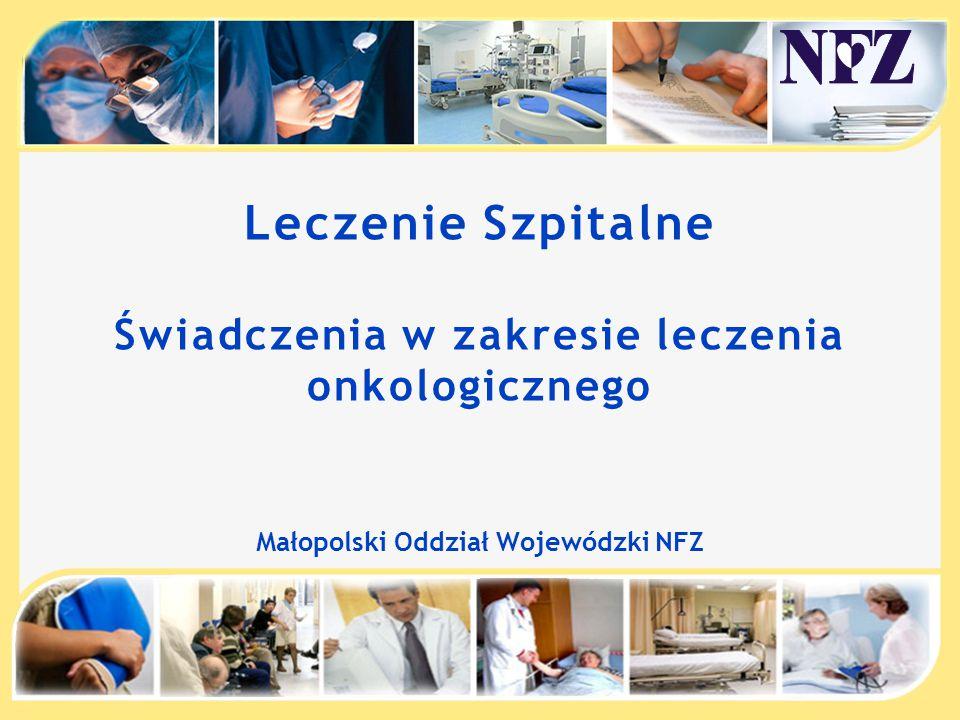 Leczenie Szpitalne Świadczenia w zakresie leczenia onkologicznego Małopolski Oddział Wojewódzki NFZ