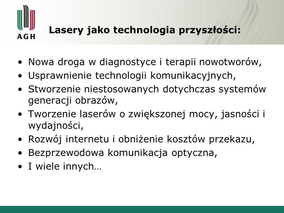 Lasery jako technologia przyszłości: Nowa droga w diagnostyce i terapii nowotworów, Usprawnienie technologii komunikacyjnych, Stworzenie niestosowanyc