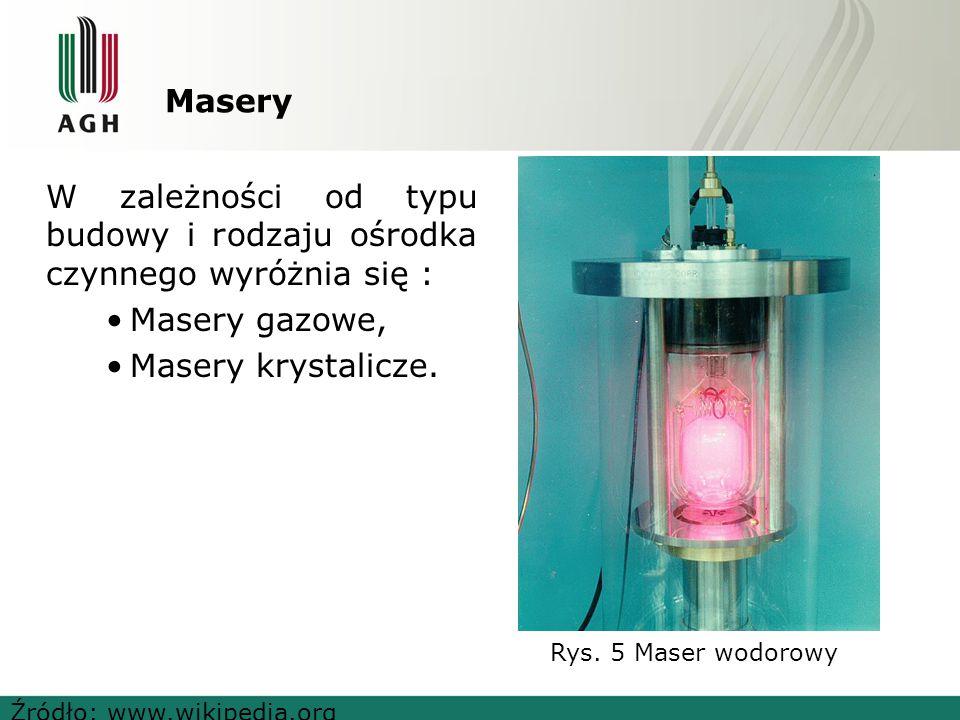 Podział laserów w zależności od ośrodka czynnego Ośrodek czynny lasera GazowyStałyCiekłyPółprzewodnikowy Na swobodnych elektronach