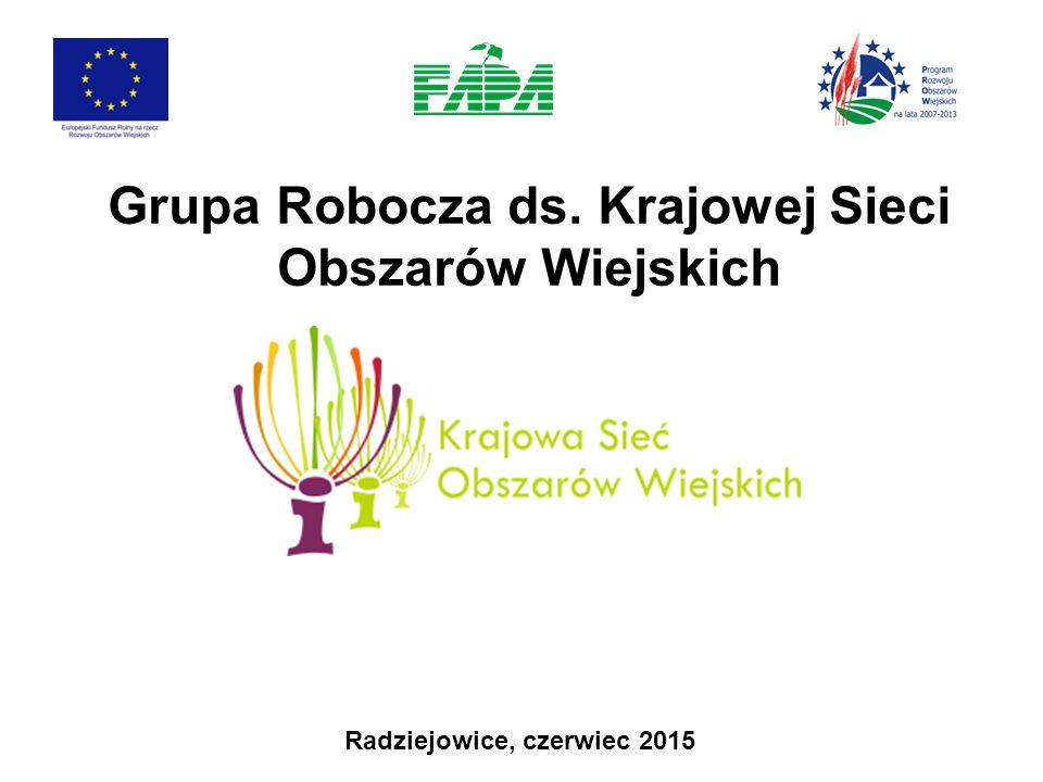 Grupa Robocza ds. Krajowej Sieci Obszarów Wiejskich Radziejowice, czerwiec 2015