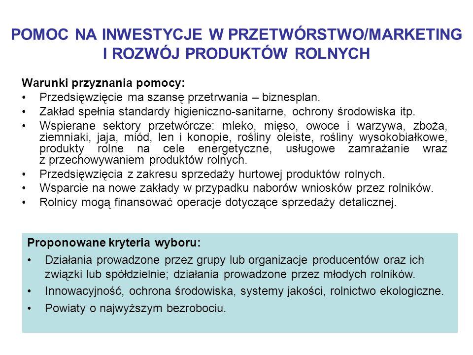 Wsparcie: Refundacja 50% kosztów kwalifikowanych inwestycji Maksymalna kwota pomocy wynosi 300 tys.