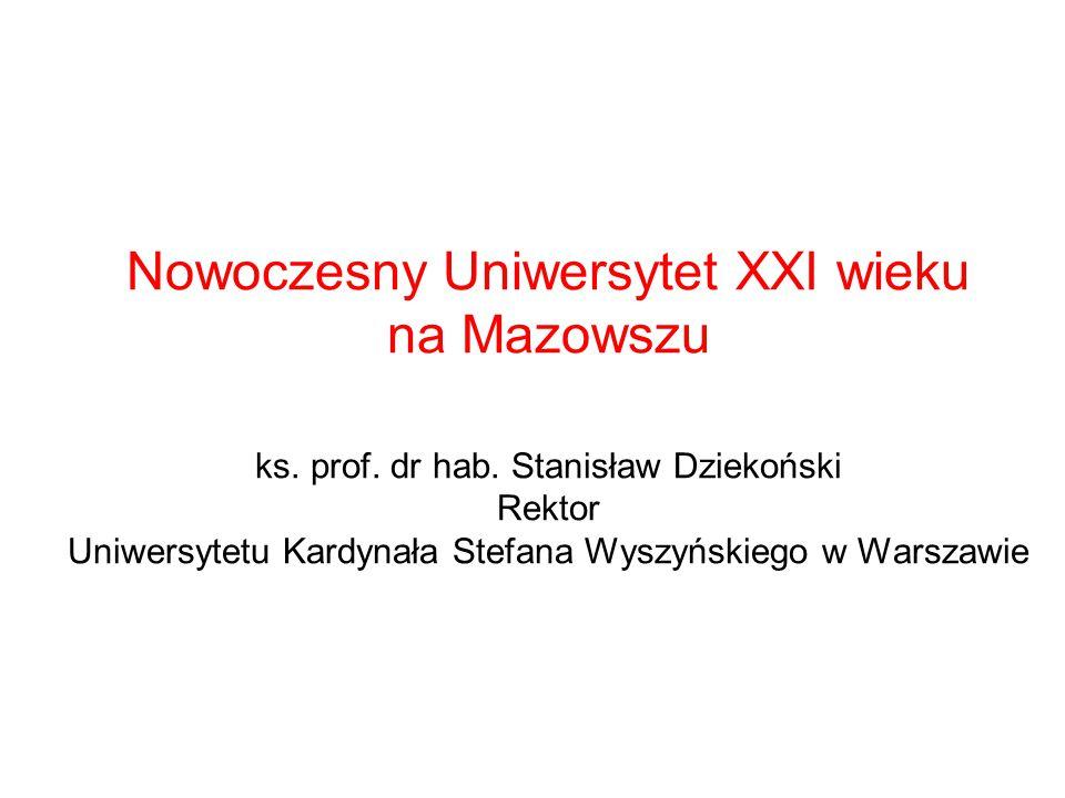Nowoczesny Uniwersytet XXI wieku na Mazowszu ks. prof.