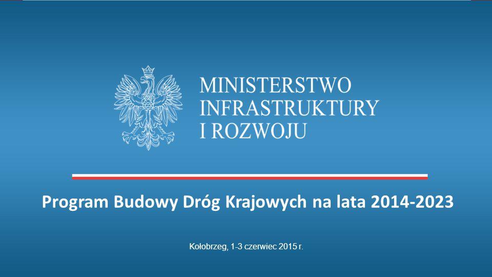 Kołobrzeg, 1-3 czerwiec 2015 r. Program Budowy Dróg Krajowych na lata 2014-2023