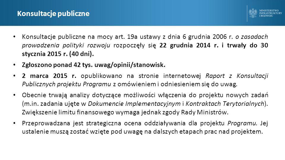 Konsultacje publiczne Konsultacje publiczne na mocy art.