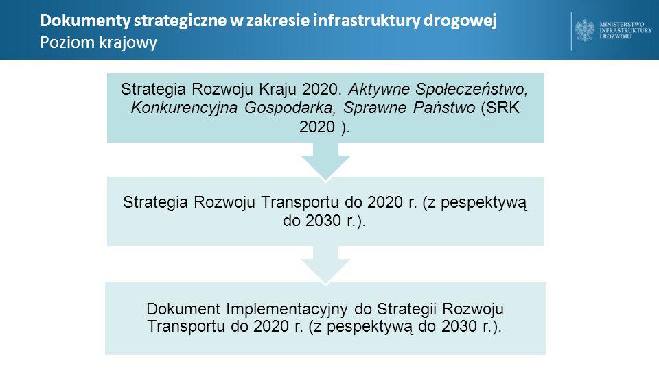 Dokumenty strategiczne w zakresie infrastruktury drogowej Poziom krajowy Dokument Implementacyjny do Strategii Rozwoju Transportu do 2020 r.