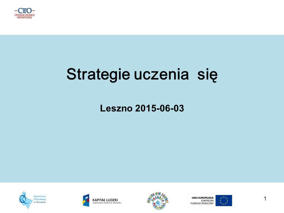 1 Strategie uczenia się Leszno 2015-06-03