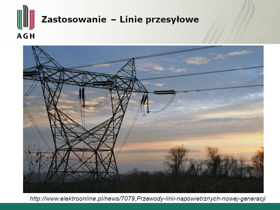 Zastosowanie – Linie przesyłowe http://www.elektroonline.pl/news/7079,Przewody-linii-napowietrznych-nowej-generacji