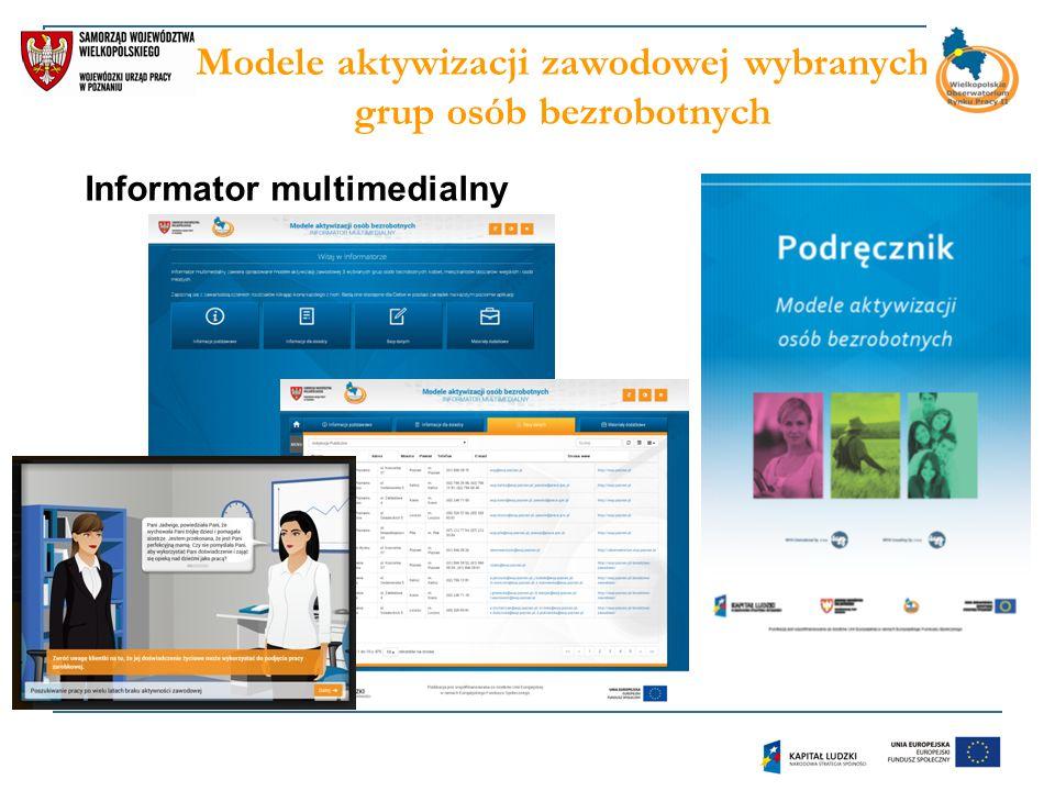 Modele aktywizacji zawodowej wybranych grup osób bezrobotnych Informator multimedialny