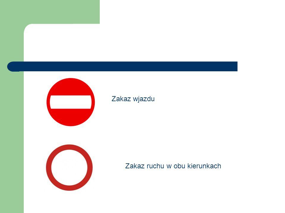 Zakaz ruchu w obu kierunkach Zakaz wjazdu