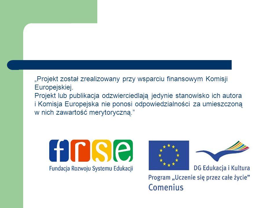"""""""Projekt został zrealizowany przy wsparciu finansowym Komisji Europejskiej. Projekt lub publikacja odzwierciedlają jedynie stanowisko ich autora i Kom"""