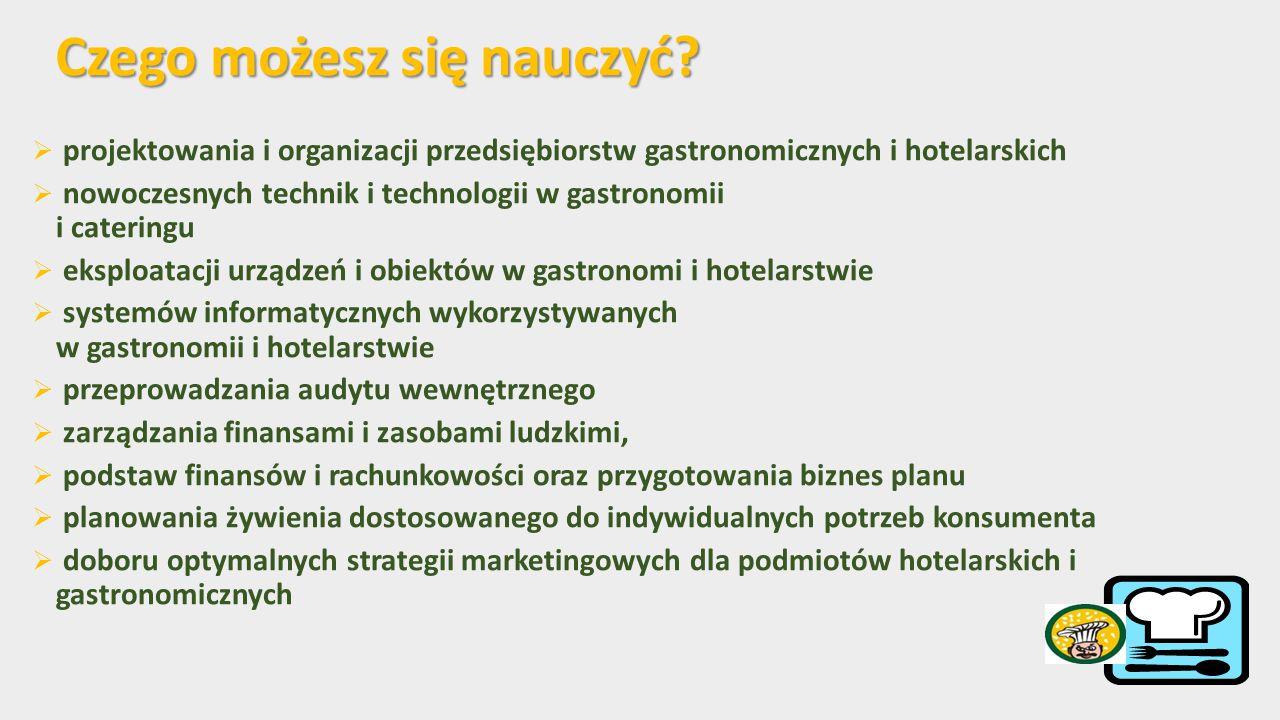 Specjalizacja  Zarządzanie w gastronomii i hotelarstwie  Technologiczno-żywieniowa Kierunek: Kierunek: Gastronomia i Hotelarstwo