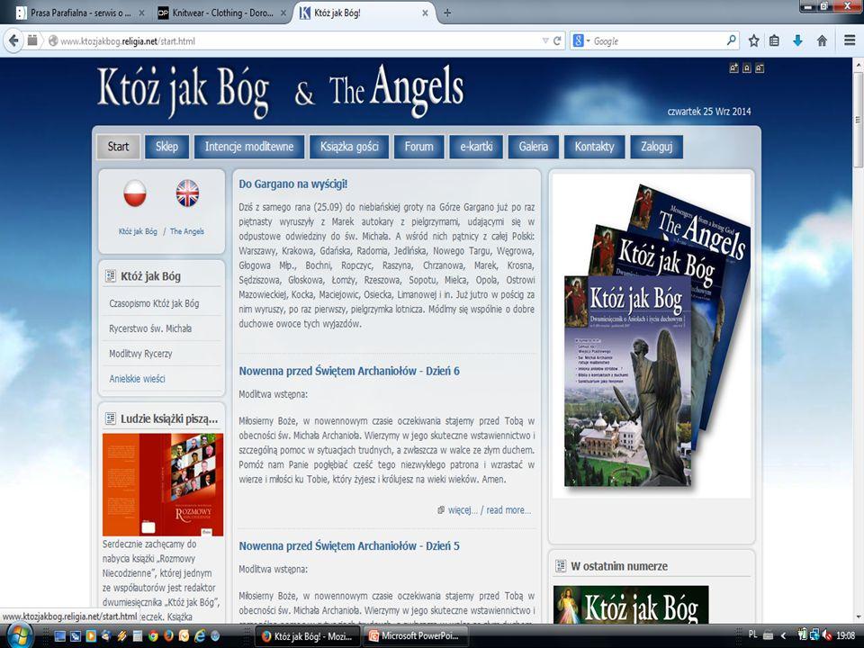 dwumiesięcznik dostępne informacje na stronie internetowej ww.ktozjakbog.religia.net