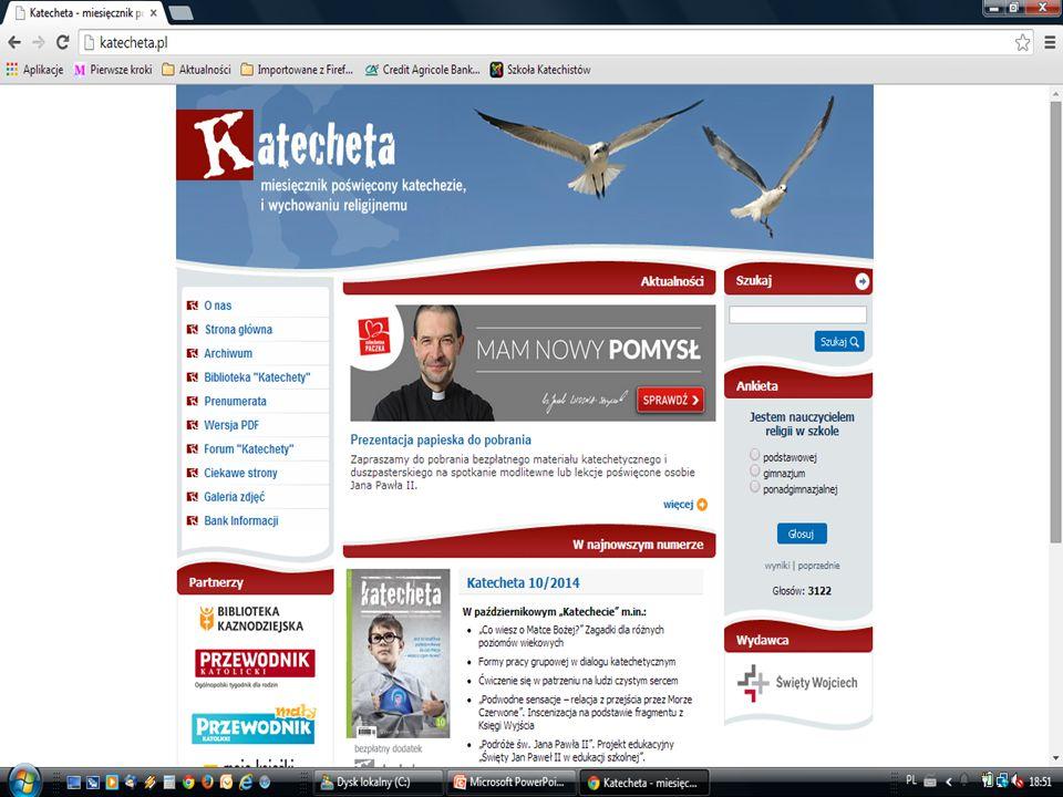 miesięcznik dostępne informacje na stronie internetowej www.katecheta.pl