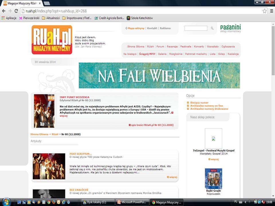 miesięcznik dostępne informacje na stronie internetowej www.ruah.pl