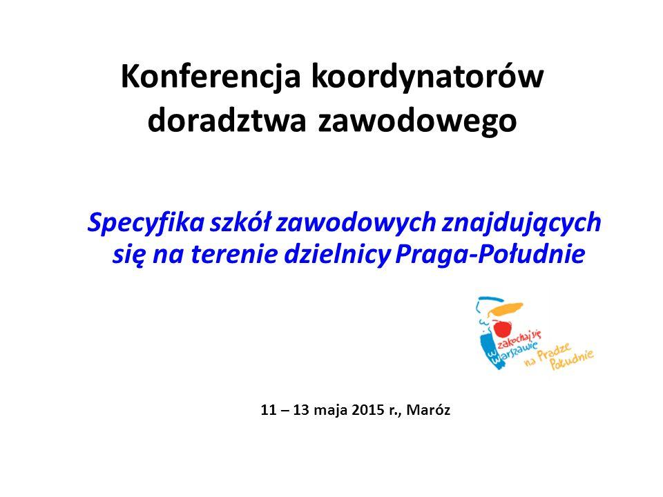 Konferencja koordynatorów doradztwa zawodowego Specyfika szkół zawodowych znajdujących się na terenie dzielnicy Praga-Południe 11 – 13 maja 2015 r., Maróz