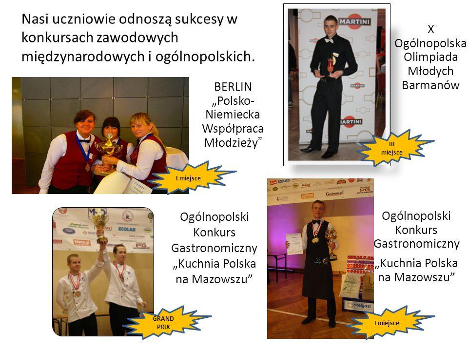 Nasi uczniowie odnoszą sukcesy w konkursach zawodowych międzynarodowych i ogólnopolskich.
