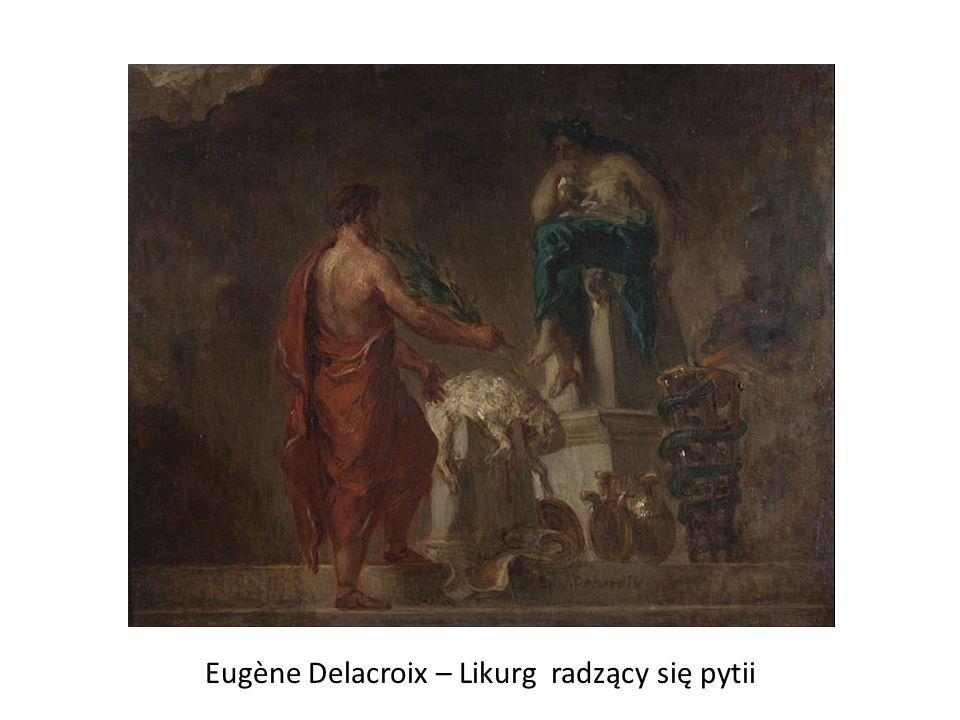 Eugène Delacroix – Likurg radzący się pytii