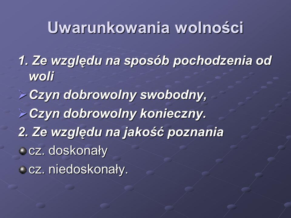 Uwarunkowania domeny wolności 3.
