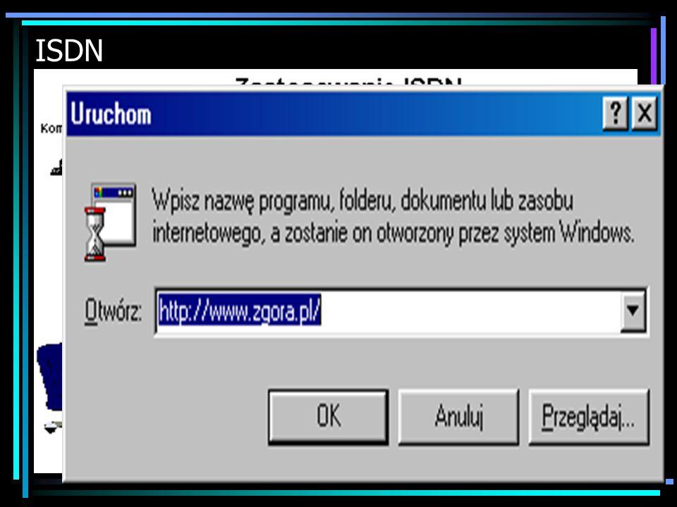 ISDN ISDN - Integrated Services Digital Network, oznacza: sieć cyfrowa z integracją usług Sieć cyfrowa ISDN to sieć telekomunikacyjna (utworzona przy
