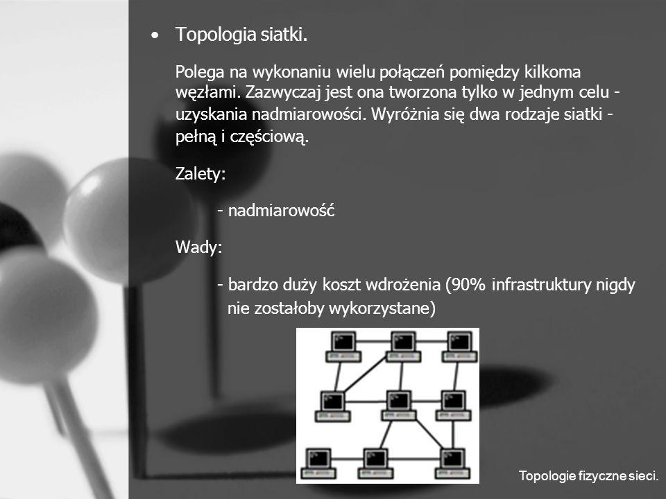 Topologie fizyczne sieci. Topologia siatki.